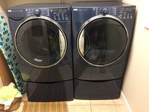 Kenmore Elite Washer, Dryer and Pedestals in Fort Drum, New York