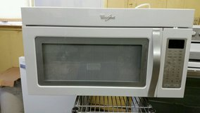 "Whirlpool 30"" microwave/hood-white in Joliet, Illinois"
