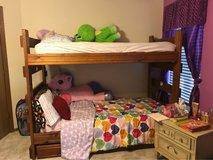 wood bunk bed in Chicago, Illinois