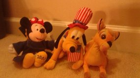 Bambe, Pluto and Minnie Mouse 2000 Grad in Camp Lejeune, North Carolina