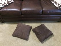 (2) Brown Throw Pillows in Camp Lejeune, North Carolina