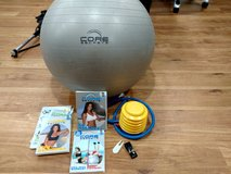 Core Secrets exercise ball with videos in Shorewood, Illinois