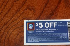 This Weeks ALDI $5.00 Coupon in Houston, Texas