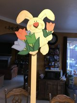 Easter Bunny Flower Bed Stake in Fairfield, California