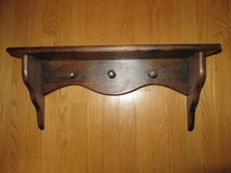 CUSTOM WOODEN PEGGED HOOKS SHELF with PLATE Grooves in Glendale Heights, Illinois