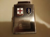 Vintage military theme cigarette case in Fort Campbell, Kentucky