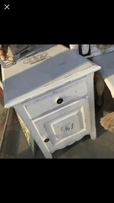 End table or nightstand refinished with French decor in Morris, Illinois