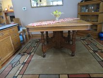 ANTIQUE Turn of Century TIGER OAK TABLE - RARE!! in Glendale Heights, Illinois