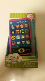 Toddler play phone in Fort Drum, New York