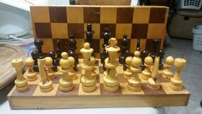 Wooden Chess Set in Camp Pendleton, California