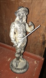 Vintage Solid Brass Pirate Musketeer Statue in Baytown, Texas