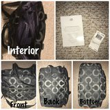 Authentic Coach Diaper Bag (Black) in Bolingbrook, Illinois