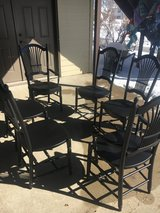 Chairs 6 2 captain and 4 other black perfect in Yorkville, Illinois