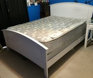 White Queen size bed in Sugar Grove, Illinois