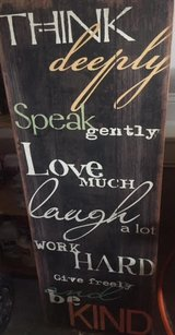 Inspirational Wood Board in Fort Campbell, Kentucky