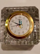 Waterford Crystal ABC Clock for nursery in Bolingbrook, Illinois