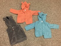 LOT baby gap bear hooded sweaters and carters hooded vest! in Naperville, Illinois