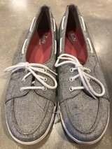 Keds Sport Shimmering Silver Boat Shoes size 10 in Sandwich, Illinois