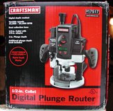 Craftsman Digital Plunge Router in Ramstein, Germany