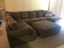 Large sectional sofa w/ottoman in Beaufort, South Carolina