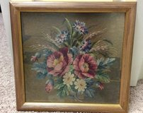 Floral Needlepoint Framed in Baytown, Texas