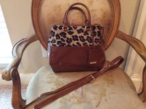 Italian Leather/Leopard Calf Hair Handbag in Baytown, Texas