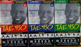 Tae Bo workout vhs tapes in Sugar Grove, Illinois