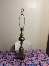 35IN TALL ANTIQUE BRASS LAMP WITHOUT SHADE COVER in Alamogordo, New Mexico