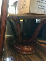 Cherry wood DR table with 8 chairs and matching hutch in Camp Pendleton, California
