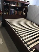 Full bed with bookcase headboard and desk with hutch in Fort Campbell, Kentucky