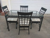 Gorgeous Metal/Glass Table w 4 Chairs in Fort Campbell, Kentucky