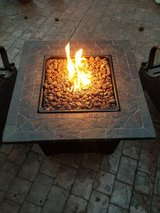 Stainless Steel Propane Fire Pit Table in Kingwood, Texas