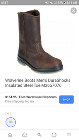 Wolverine steel toe work boots in Leesville, Louisiana