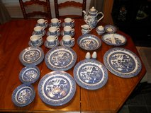 Churchill England Blue Willow Dishes(50 Pieces) in Byron, Georgia