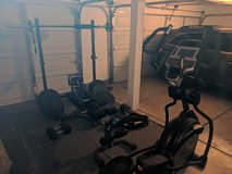 rogue weight lifting equipment, xmark bench, Sole e35 elliptical and various excercise gear in Vista, California