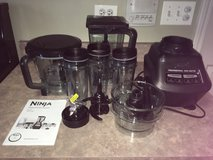 NINJA Mega Kitchen System Blender Food Processor BL772 1500 watts, complete system with new part... in Plainfield, Illinois