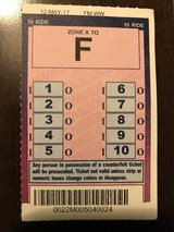 Metra ticket 10 ride A-Z Zone in Chicago, Illinois
