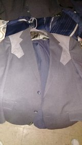 Grey and light grey suit in Fort Polk, Louisiana