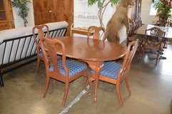 Solid Cherry Table,  2 leaves and 4 chairs in Fort Lewis, Washington