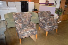 Pair of Hunting theme Chairs in Fort Lewis, Washington