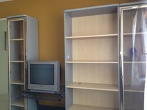 Glass bookcase cabinets set of 3 in Oceanside, California