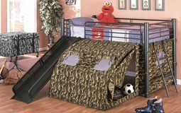 Kids Bed Camp w/t removable slide, or stair, lamp and bedding in Camp Pendleton, California