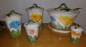 Vintage canister set and soup Bowl in Elgin, Illinois
