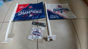 2 FLAGS 2016 CUBS CHAMPIONS in Elgin, Illinois