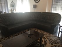 Leather couch (sectional) in Ramstein, Germany