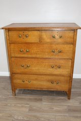 Stunning George III Mahogany Antique Chest Of Drawers in Kingwood, Texas