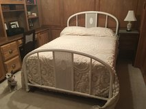 Antique Metal Double Bed Frame, Mattress & Box Springs and all Linens in Kingwood, Texas