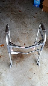 "Drive Medical Deluxe Two Button Folding Walker with 5"" Wheels in Kingwood, Texas"