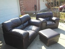 Nice, Italian Leather, living room set in The Woodlands, Texas