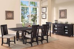 BRAND NEW! QUALITY LUXURIOUS DISTRESSED DESIGNER SOLID WOOD DINING SET in Camp Pendleton, California